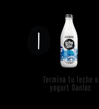 Termina tu leche o yogurt Danlac